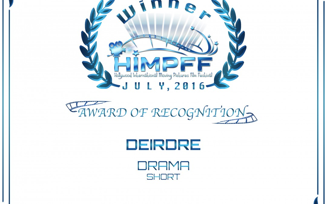 08. Award Of Recognition Drama Short